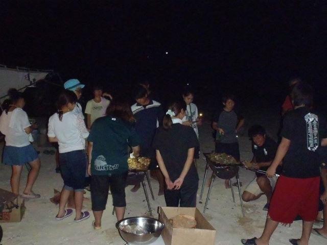 キャンプ 夜2