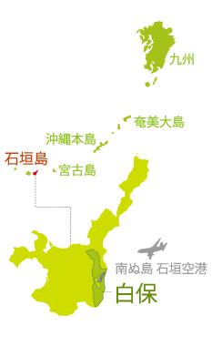 石垣島 白保地図