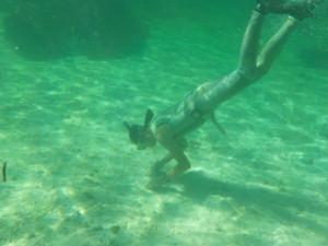 海底の赤土調査