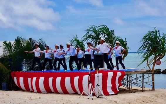 2019白保海神祭の余興「さよなら港」